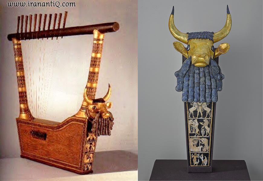 چنگ بازمانده از مقبره سلطنتی اور