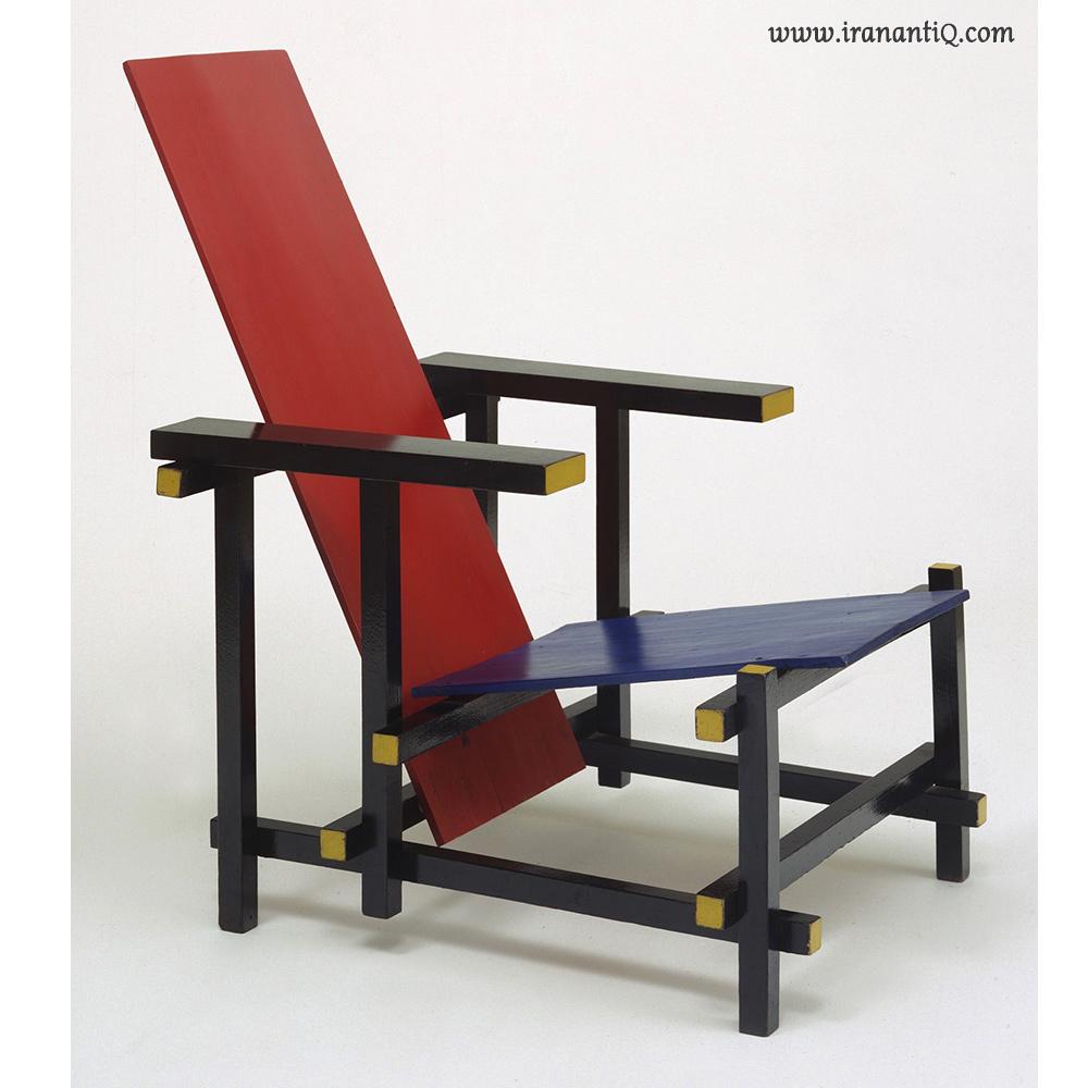 صندلی قرمز - آبی