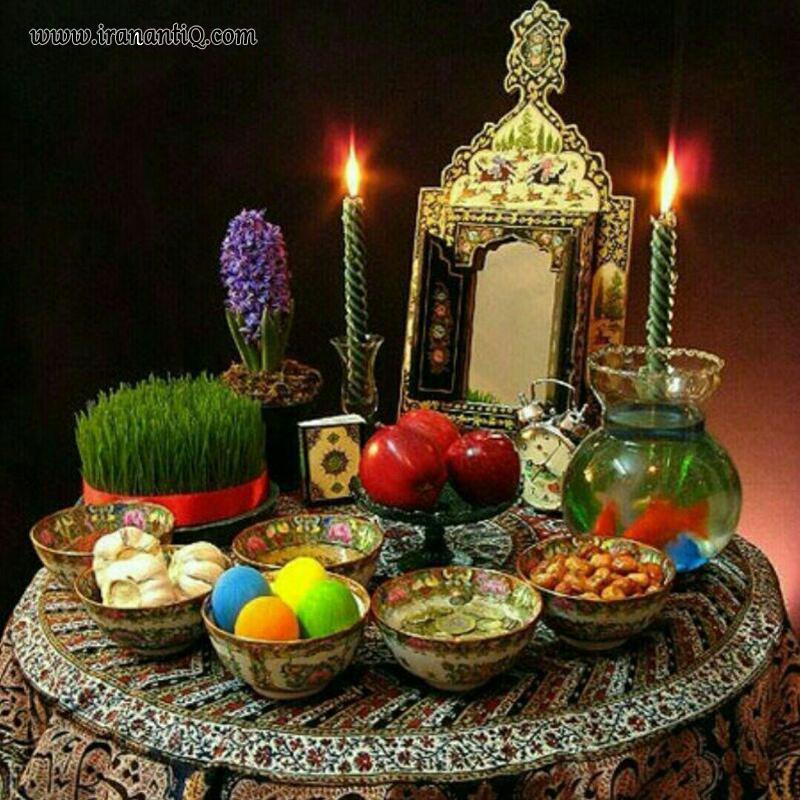 آینه و شمعدان در سفره هفت سین