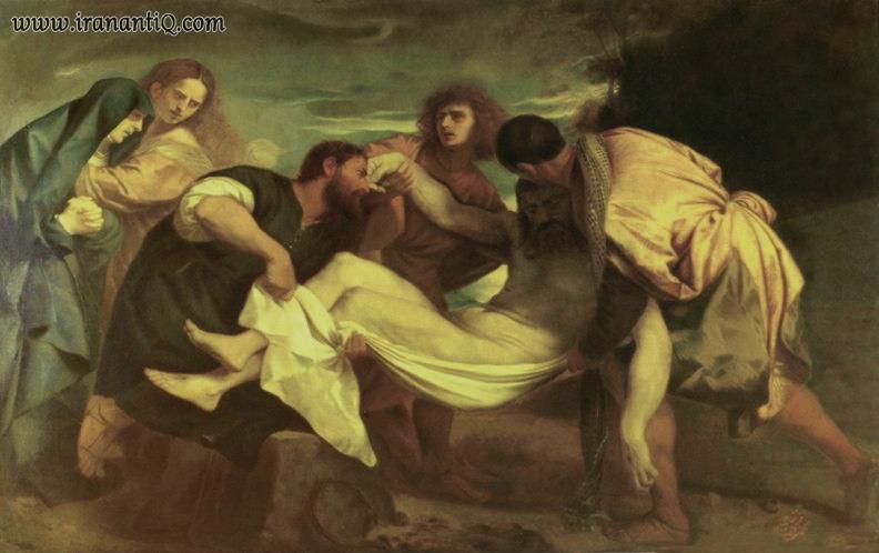 کپی تابلوی به خاکسپاری مسیح[2] ، که توسط کمال الملک نقاشی شده است.