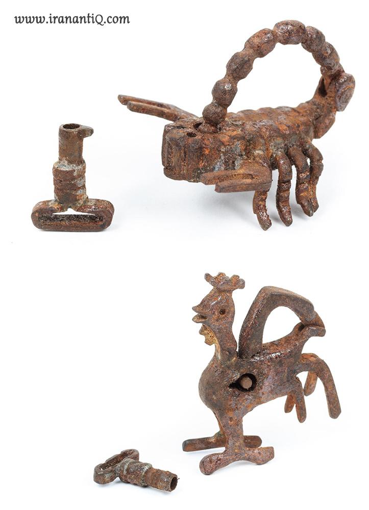 قفل های برنزی ، 1700-1600 میلادی ، مربوط به دوره صفویان