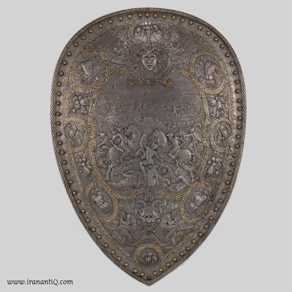 سپری از جنس فولاد - طلا - نقره ، فرانسه ، 1555 میلادی ، محل نگهداری : موزه متروپولیتن