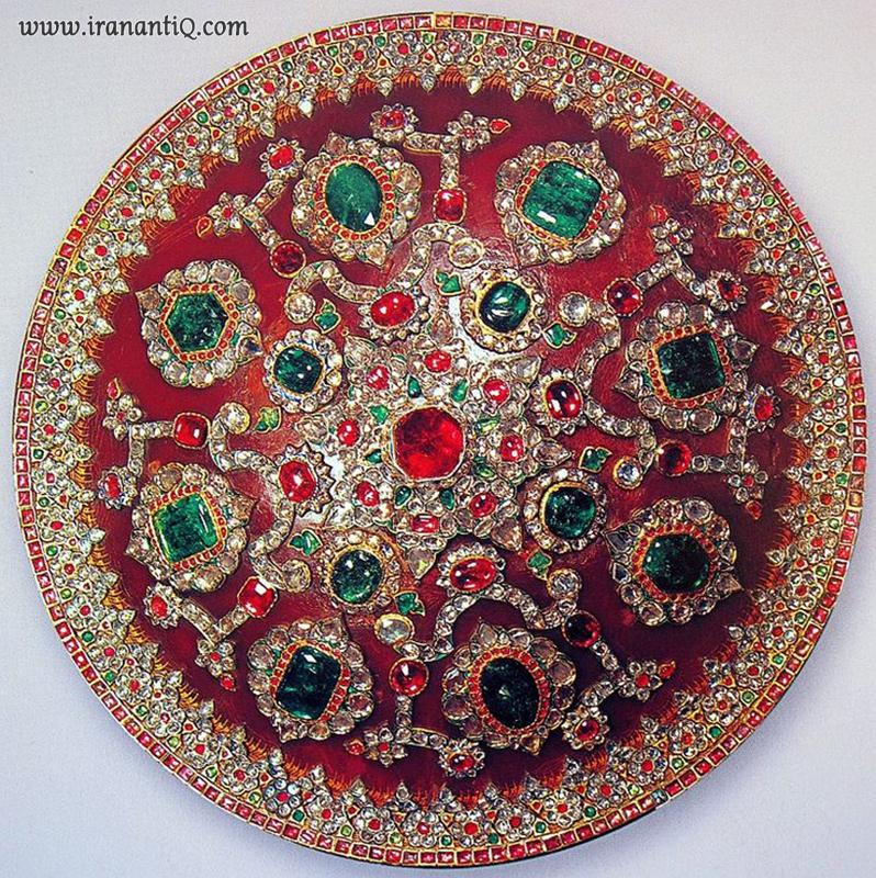 سپر نادرشاه افشار ، محل نگهداری : موزه جواهرات ملی ایران