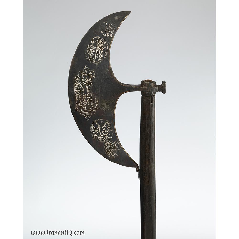 تبر دراویش از جنس چوب - فولاد - نقره - مس ، ترکیه ، 1826-1825 میلادی