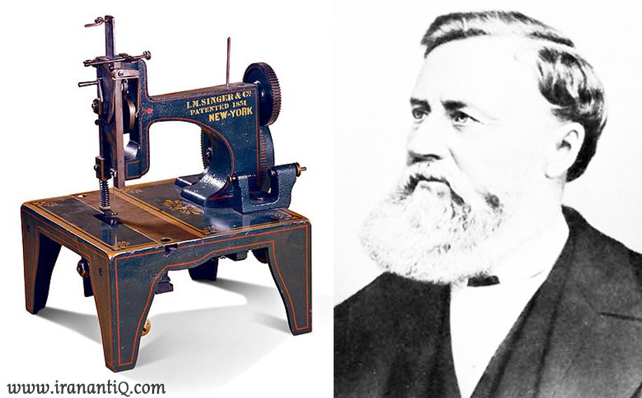 چرخ خیاطی که توسط ایزاک سینگر اختراع شد