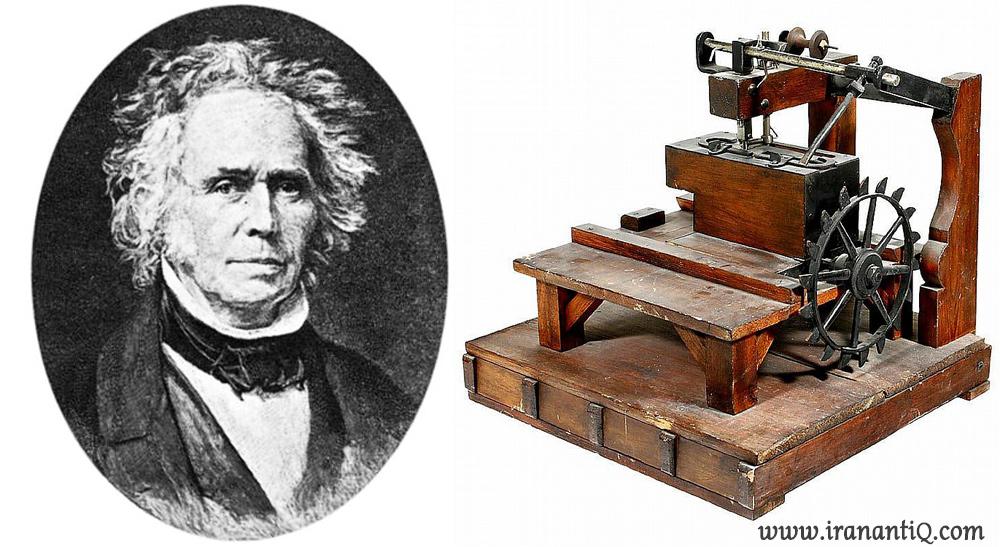 چرخ خیاطی اختراع شده توسط توماس ساینت