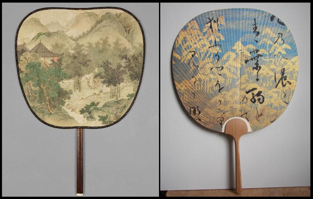 بادبزن هایی با صفحه تخت از کشور چین و ژاپن