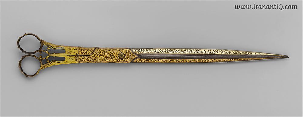 قیچی ، طلا کاری شده ، مربوط به قرن 18 و 19 میلادی ، ترکیه ، محل نگهداری : موزه متروپولیتن