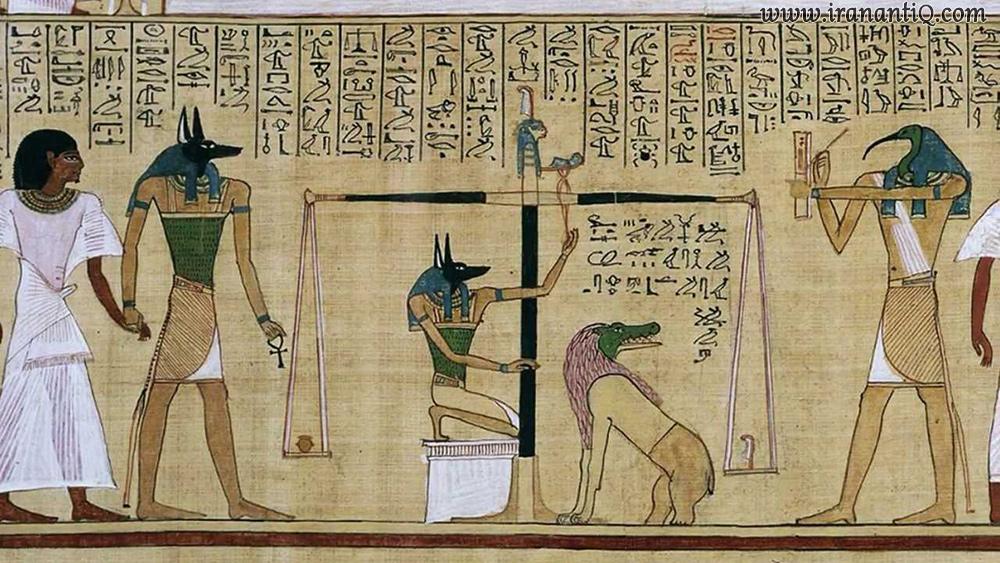 نقاشی بر روی پاپیروس ، مصر ، محل نگهداری : موزه بریتانیا