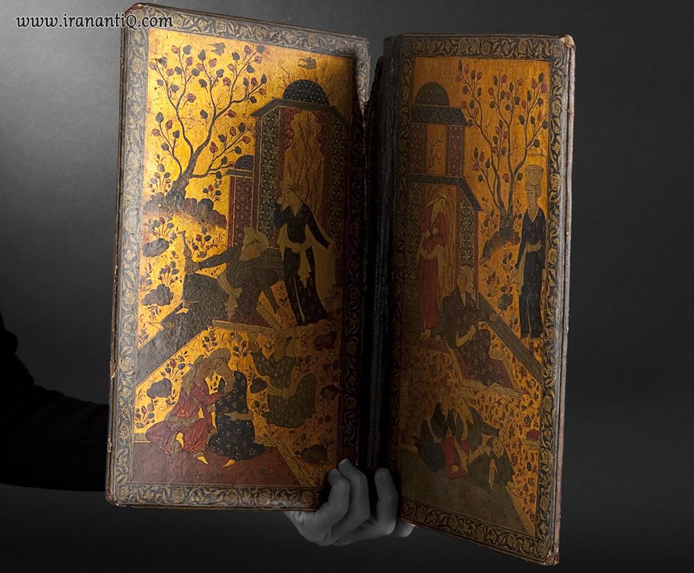 Book binding boards. Iran, Qajar, circa 1900