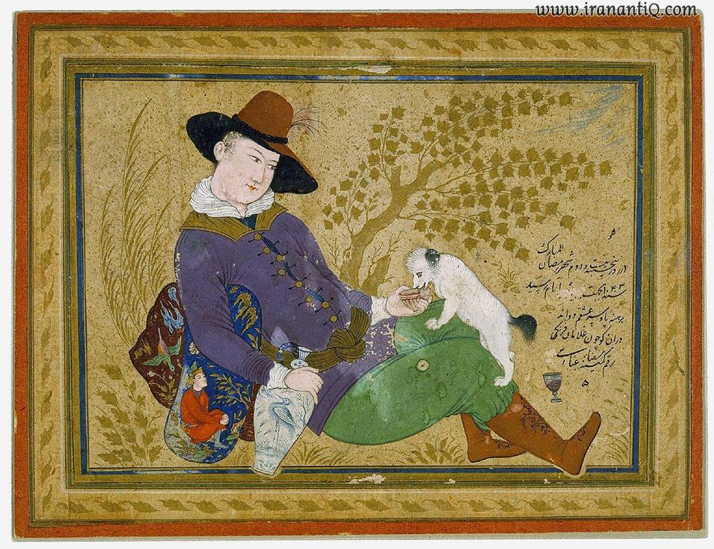 اثری از رضا عباسی ، مکتب اصفهان
