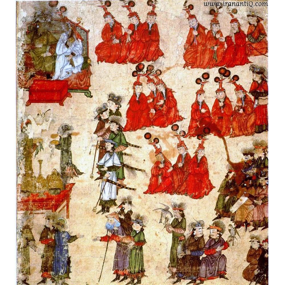 برگی از کتاب جامع التواریخ ، مکتب مغول