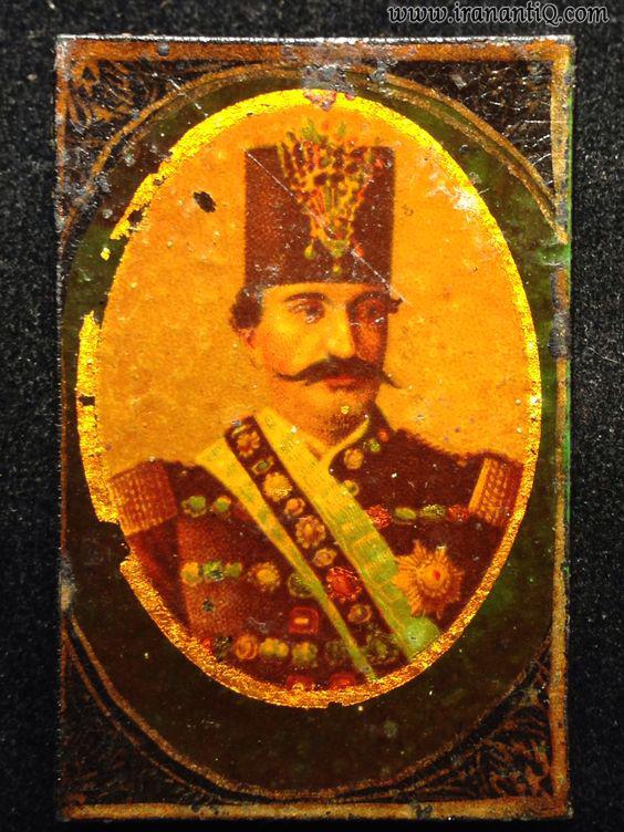 جلد پاپیه ماشه با نقش ناصرالدین شاه