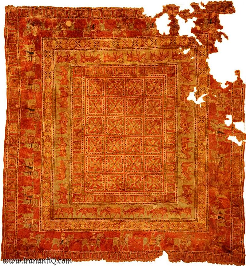 Pazyryk Carpet Persian Carpet - فرش یا قالی پازیریک
