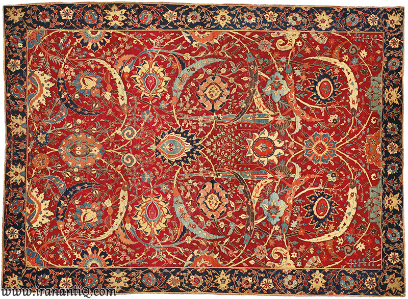 Persian Safavid Carpet with highest Price - فرش ایرانی دوره صفوی