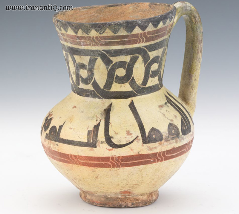 Nishapur Jug with Kufic Scripts ca. 10-11th Century