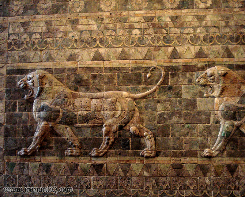 Achaemenid Tiles In Iran
