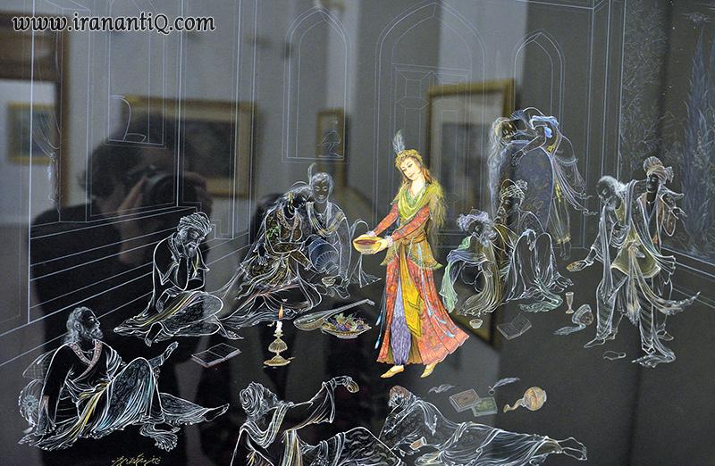 Persian Contemporary Painting - نقاشی روی شیشه ویترای