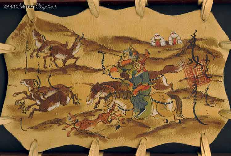 نقاشی روی چرم ، مربوط به مغولان