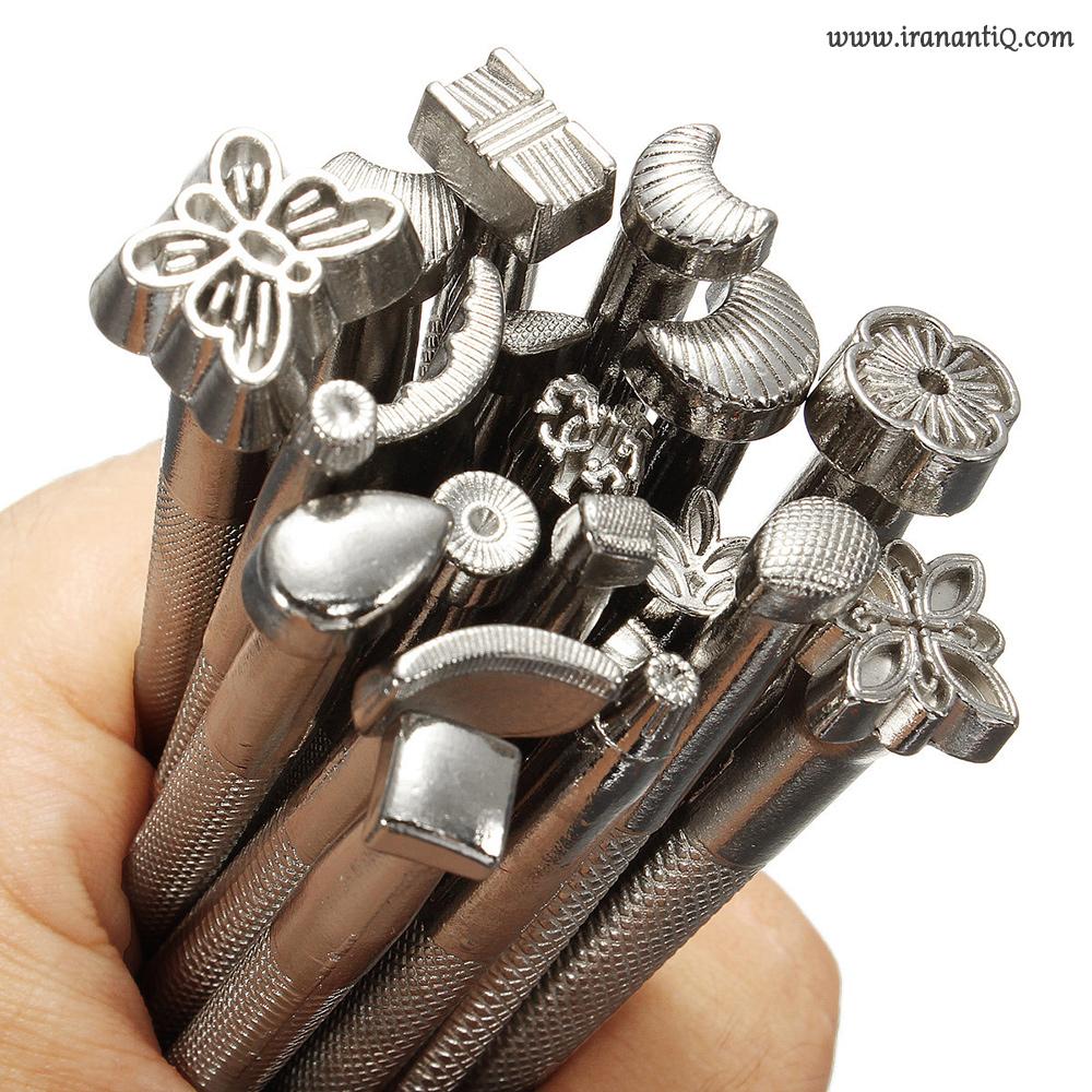 قلم های منقوش فولادی برای نقش اندازی بر روی چرم