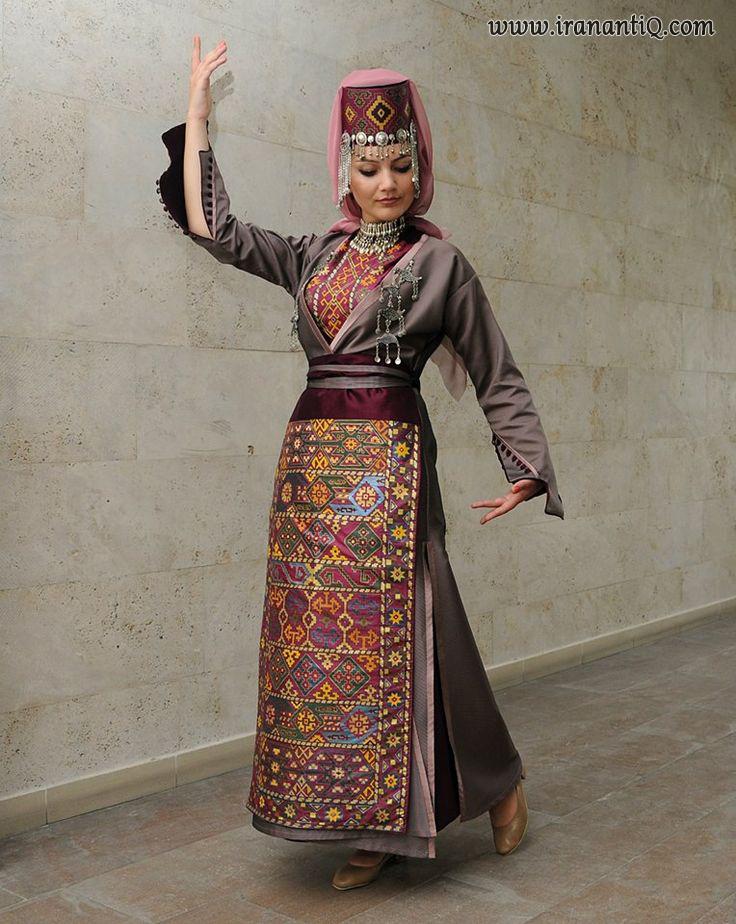 پوشاک سنتی و زیبای سوزن دوزی بانوی ارمنی