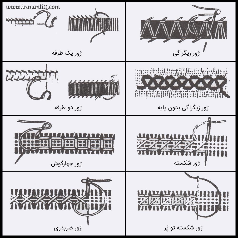انواع دوخت ژور دوزی