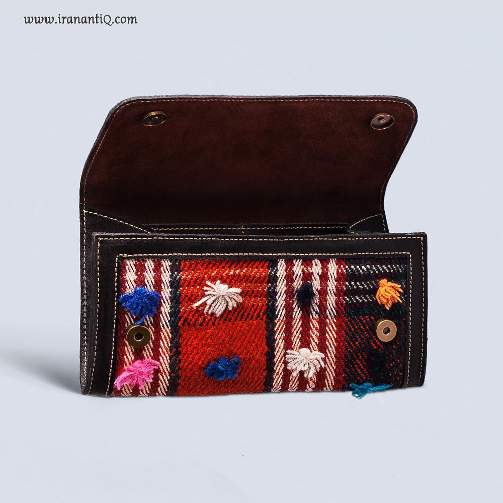 کیف پول سنتی چرم دوزی شده