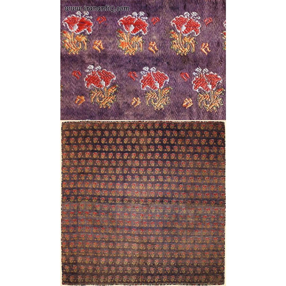 پارچه ابریشمی گل برجسته با نخ نقره ، حدود 1700 میلادی ، مربوط به دوره صفویان