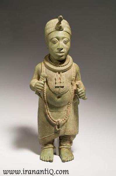 پیکره برنزی پادشاه - (یوروبا - آفریقا ) - قرن دهم تا دوازدهم میلادی