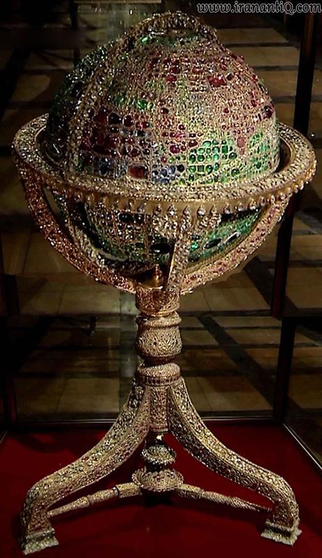 کره جواهر نشان ، 1291 ه.ق ، مربوط به دوره قاجار ، موزه ملی جواهرات ایران