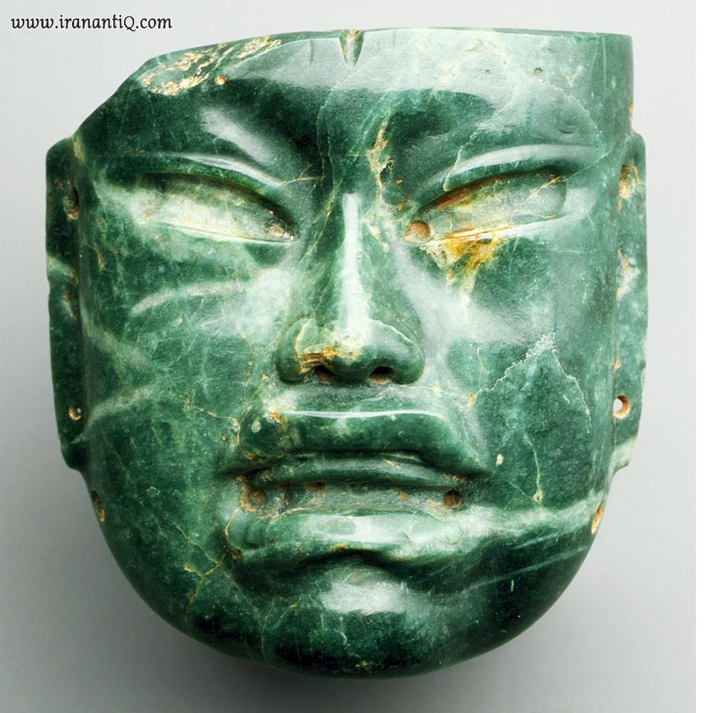ماسکی از جیدایت مربوط به تمدن اولمک ها از مکزیک ، 400 - 900 قبل از میلاد ، موزه متروپولیتن