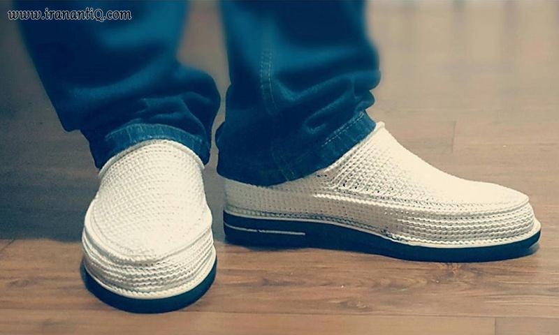 Iranian shoes , Giveh Design ، گیوه پای پوش سنتی ایران