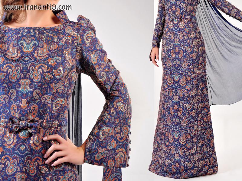 طراحی لباس با پارچه ترمه ، persian cloth with termeh