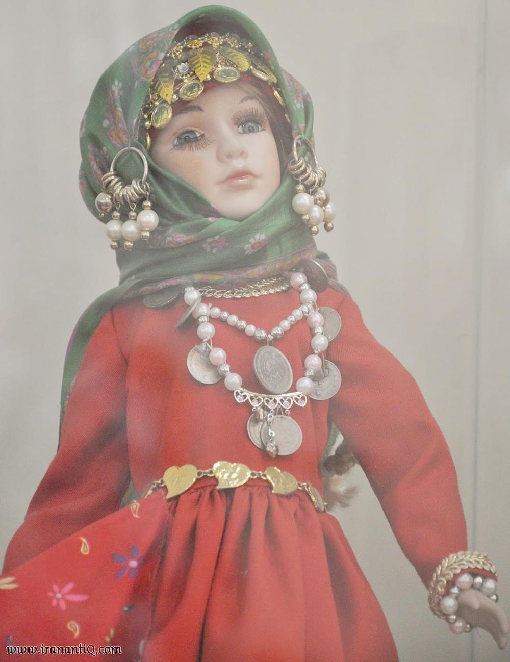 عروسک با لباس ارمنی ایران ، iran armanian people pair doll