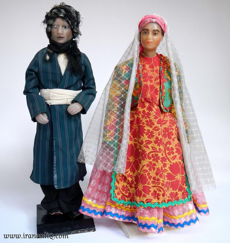عروسک مردمان قشقایی ، iran qashqai people dolls
