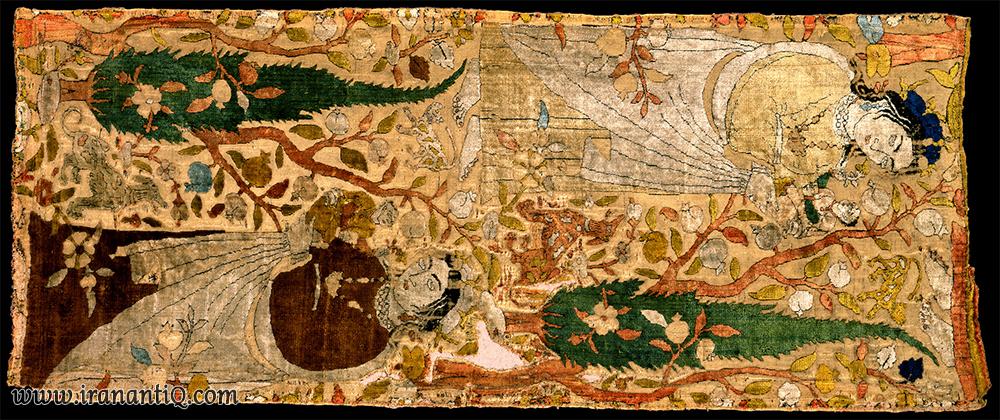 قطعه مخملی ، ابریشم ؛ آغاز قرن 17 میلادی