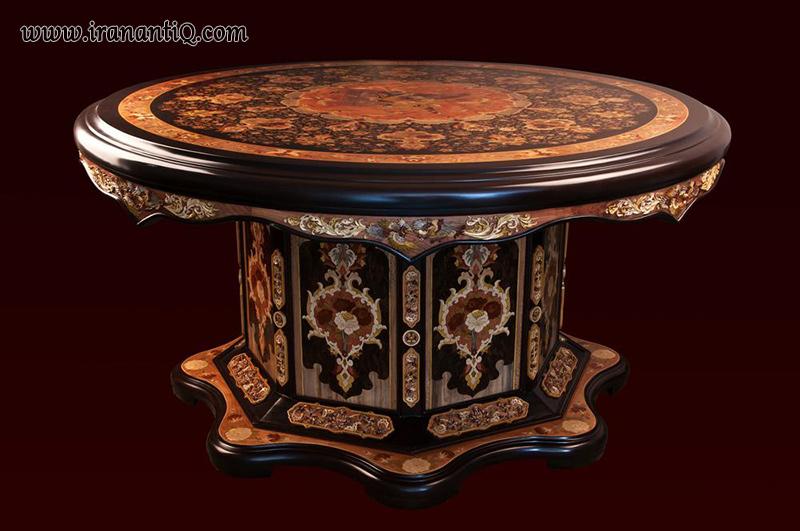 میز نازک کاری شده ایرانی ، Persian Joinery table