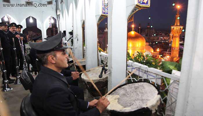 نقاره زنی در حرم امام رضا