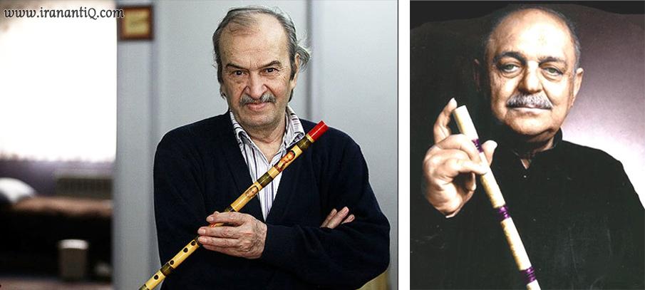 استاد حسن کسایی (تصویر راست ) و استاد حسن ناهید (تصویر چپ)