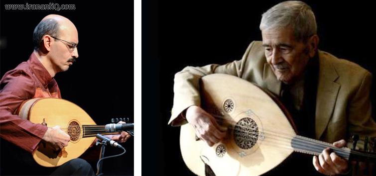 منصور نریمان (تصویر سمت راست ) وحسین بهروزی نیا (تصویر سمت چپ ) ، از نوازندگان عود