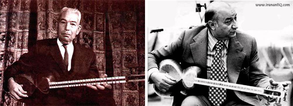 از اساتید و نوازندگان بنام تار آقایان جلیل شهناز (تصویر راست) و علی اکبر خان فراهانی (تصویر چپ)