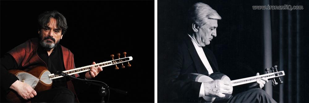 از اساتید و نوازندگان بنام تار آقایان هوشنگ ظریف (تصویر راست) و حسین علیزاده (تصویر چپ)