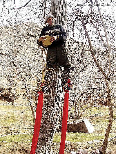 از هنرمندان چوب پای کرمان