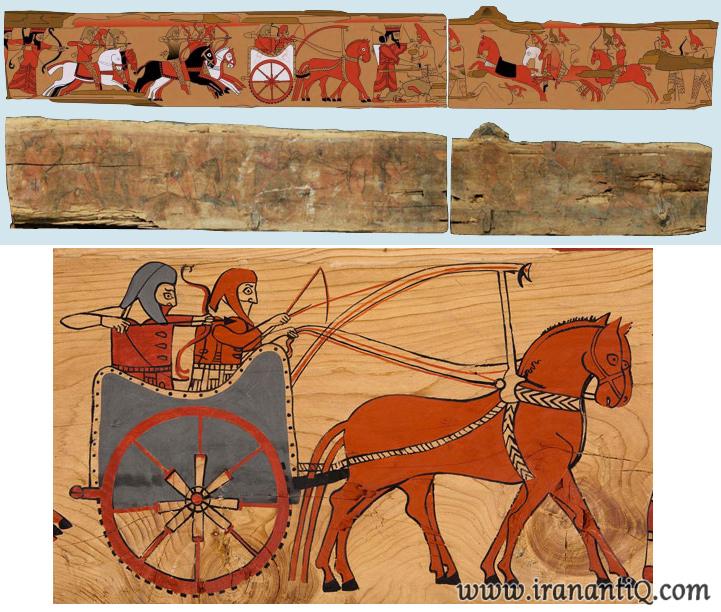 Persian Achaemenid wood painting - نقاشی چوب دوره هخامنشی