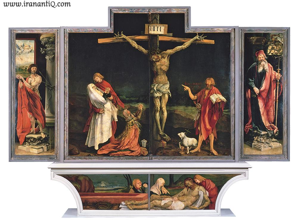 محراب ایزنهایم ، اثر ماتیاس گرونوالد ، 1506 تا 1515 میلادی ، رنسانس