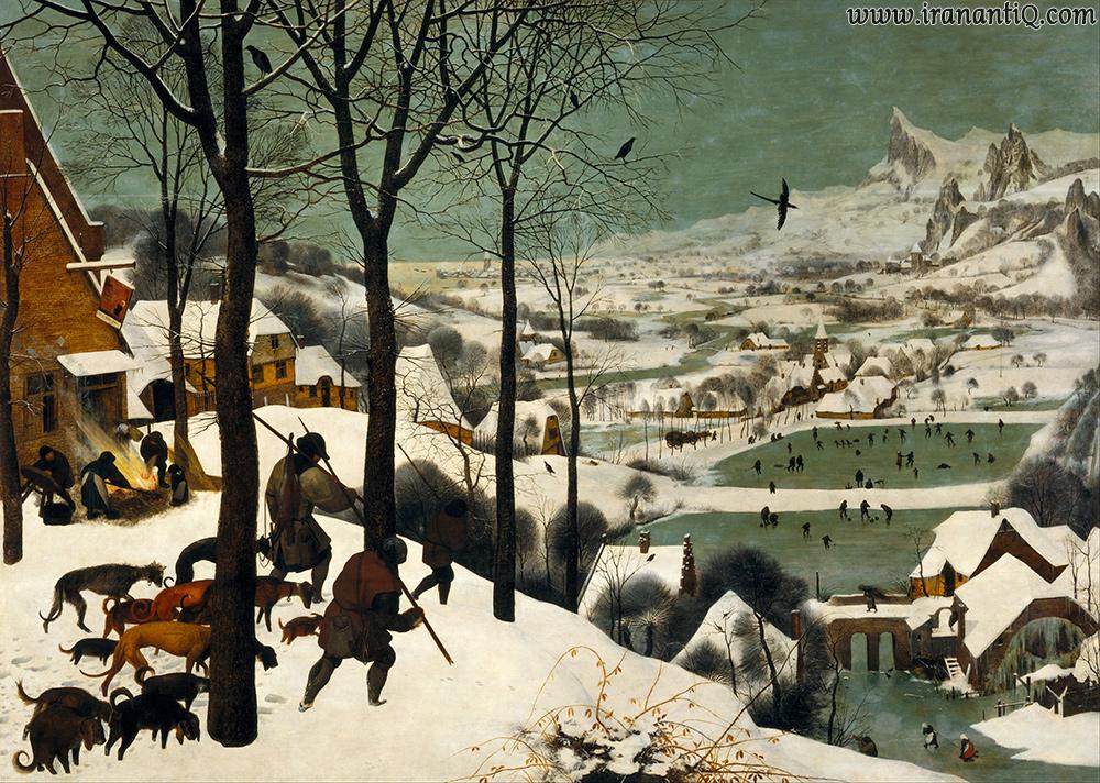 شکارچیان در برف ، اثر پیتر بروگل ، رنسانس