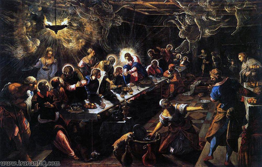 شام واپسین ، اثر تینتورتو ، سبک منریسم