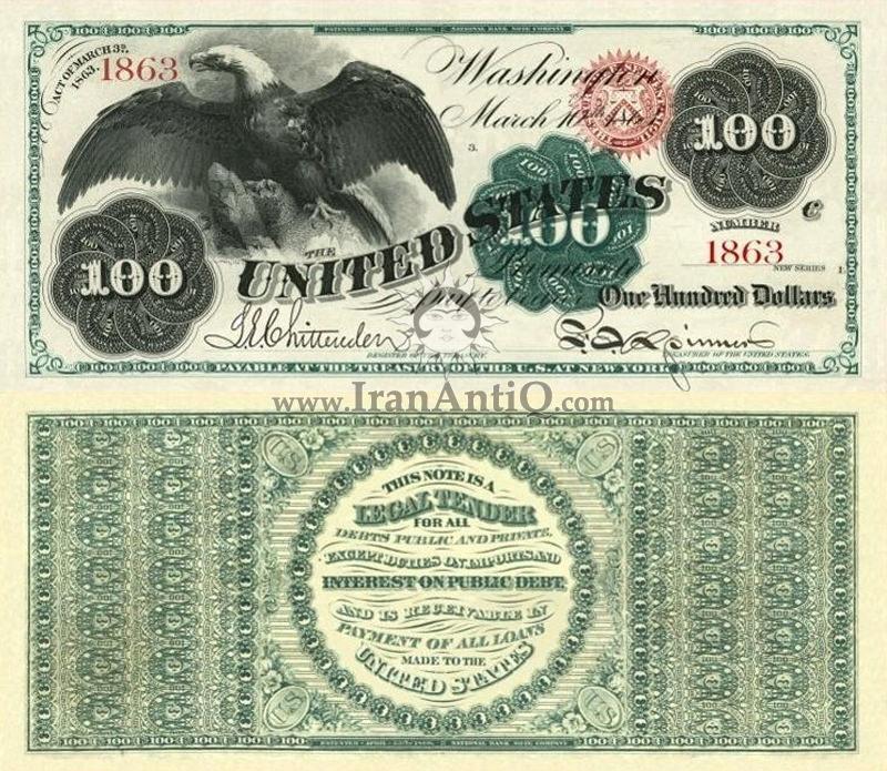 100 دلار سری رایج - عقاب