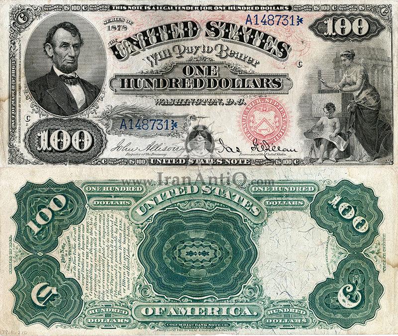 100 دلار سری رایج ایالات متحده - آبراهام لینکلن