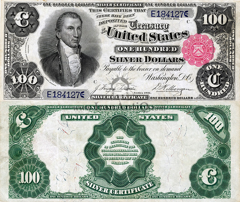 100 دلار سری گواهی نقره - جیمز مدیسون
